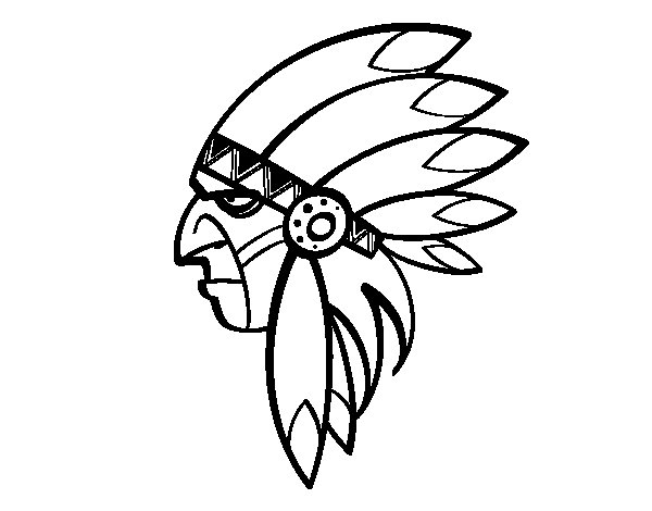 Face of Indian Head coloring page