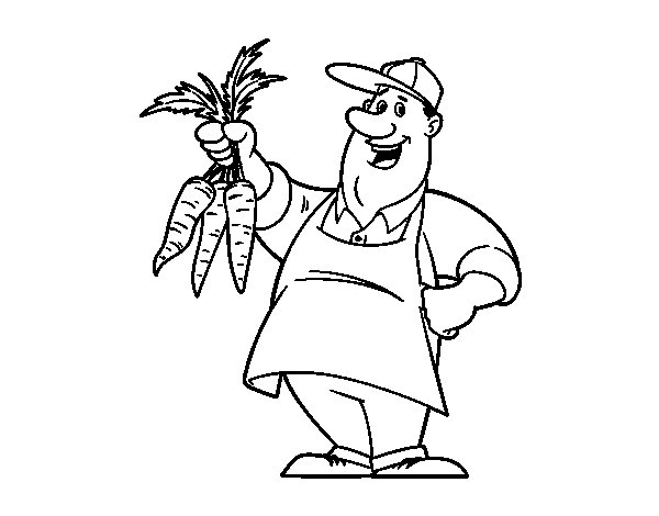 Farmer coloring page
