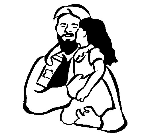 Fatherly kiss coloring page