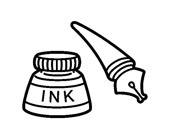 Fountain pen coloring page for Pen coloring pages