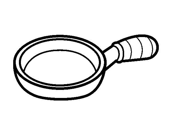 Frying Pan Coloring Page Coloringcrew Com Pan Coloring Book