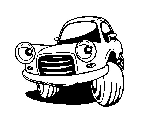Fun city car coloring page
