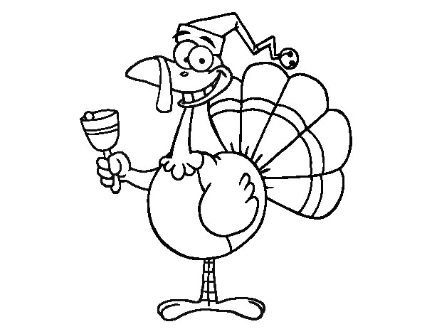 Funny turkey coloring page
