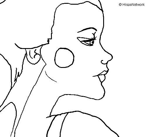 Geisha profile coloring page
