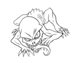 Ghoul coloring page