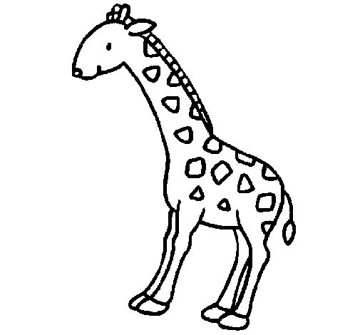 Giraffe 2 coloring page