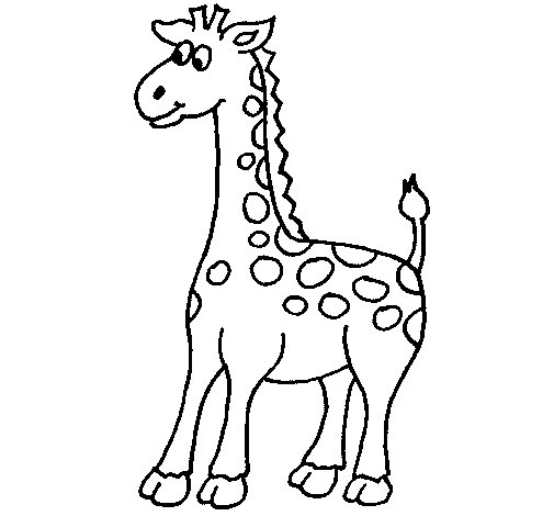 Giraffe 5 coloring page