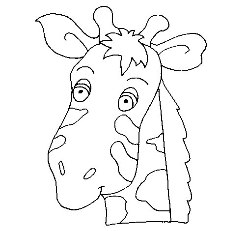 Giraffe Face Coloring Page