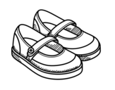 Girl shoes coloring page