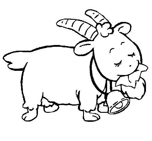 Goat 5 coloring page