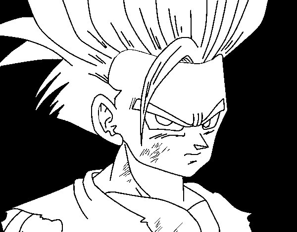 Gohan coloring page