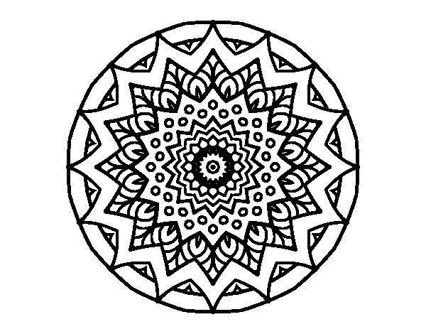 Growing mandala coloring page