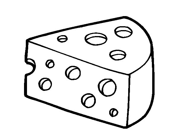 Gruyère cheese coloring page