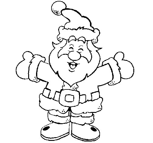Happy Father Christmas Coloring Page
