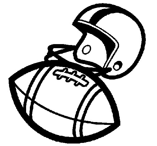 Helmet and ball coloring page