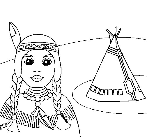 tepee coloring pages - photo#20