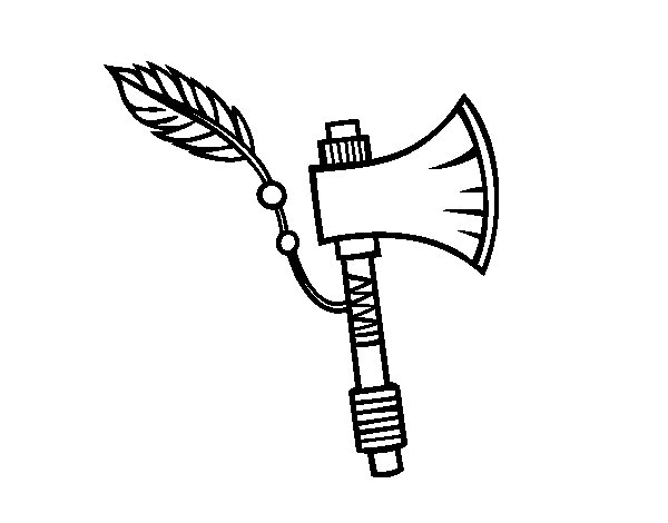 Indian axe coloring page