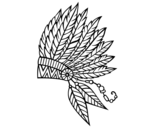 Indian feather crown coloring page