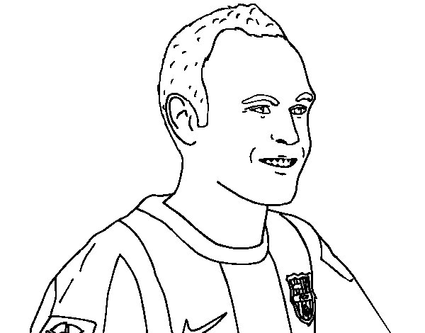 Iniesta coloring page