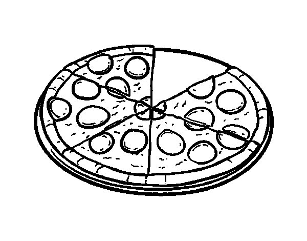 italian pizza coloring page