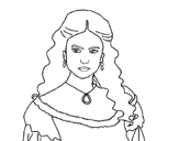 Katherine Pierce from The Vampire Diaries coloring page