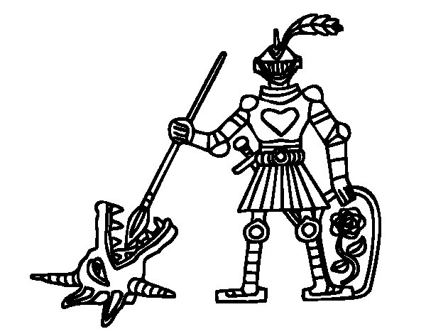 knight saint george coloring page