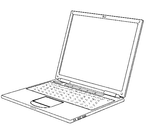 Laptop coloring page