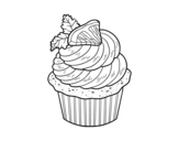 Lemon cupcake coloring page