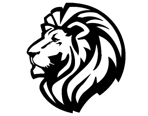 Lion tribal forearm coloring page