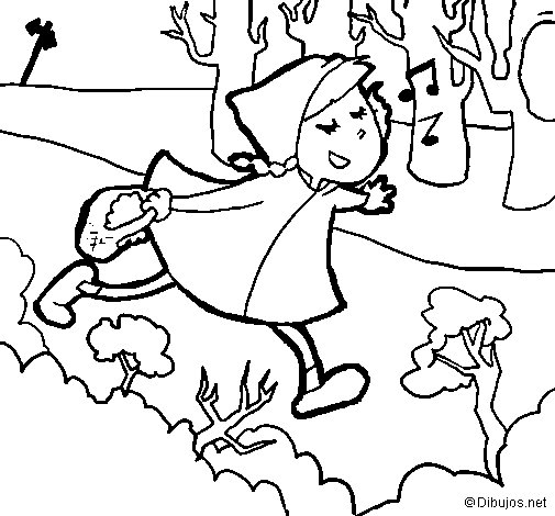 Little red riding hood 6 coloring page