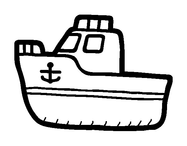Luxury yacht coloring page
