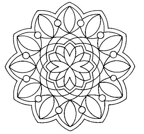 Mandala 3 coloring page