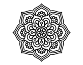 Mandala concentration flower coloring page
