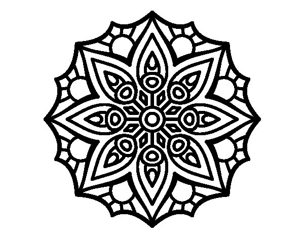 Mandala simple symmetry  coloring page