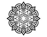 Mandala vegetal life coloring page