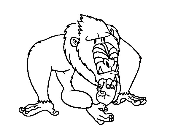 mandrill coloring page