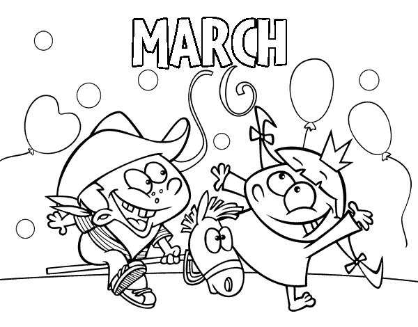 march coloring book pages - photo#28
