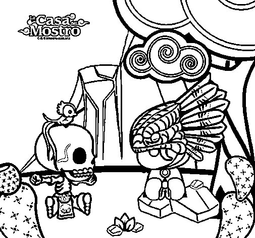 Mic Quetz coloring page