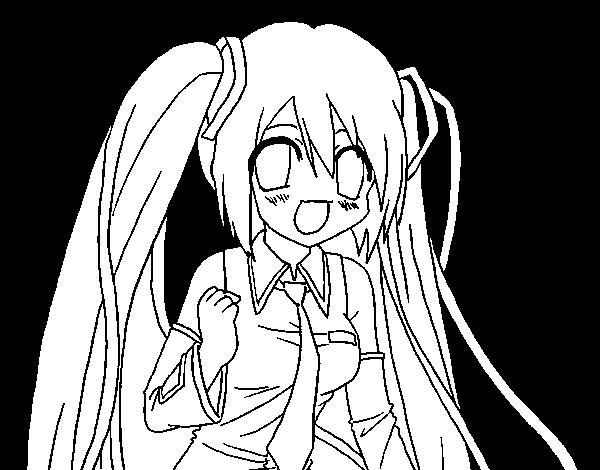miku hatsune vocaloid coloring page coloringcrewcom