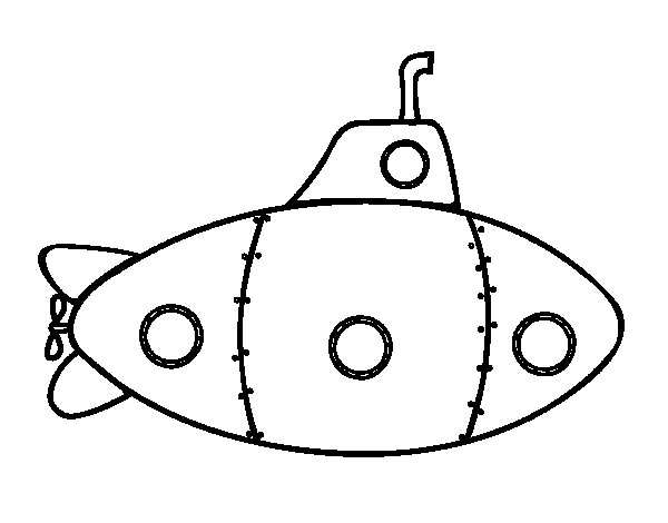 Military Submarine Coloring Page