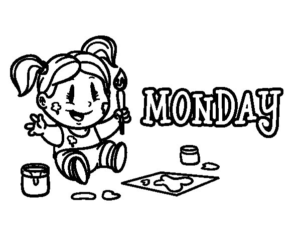Monday coloring page