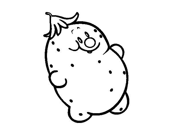 Mr. potato coloring page