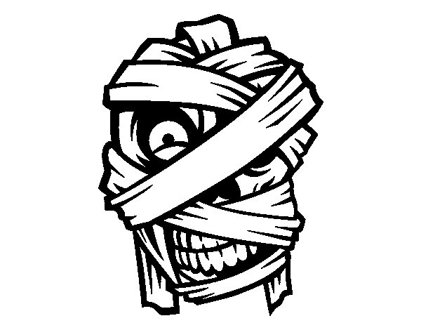 Mummy's head  coloring page