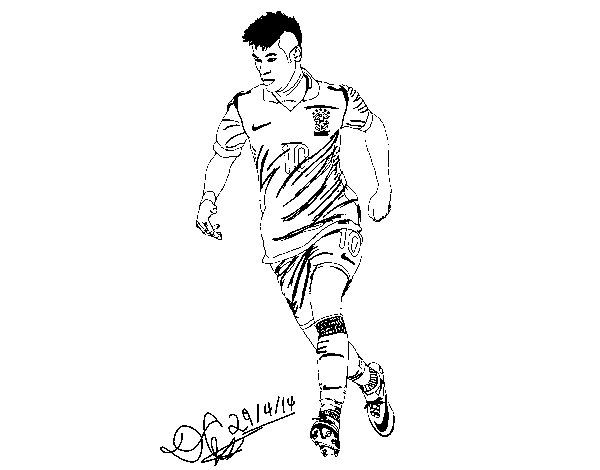soccer coloring pages neymar barcelona - photo#35