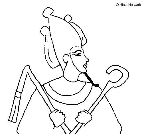 Osiris coloring page