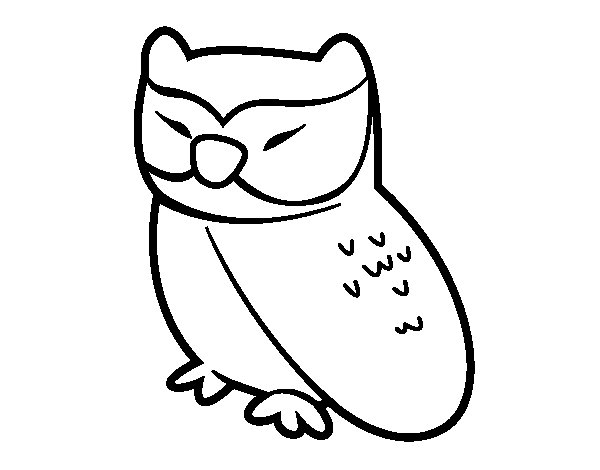 Owl relaxed coloring page