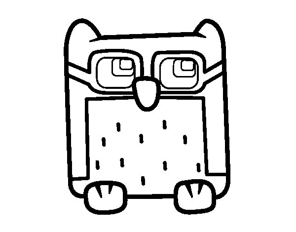 Owl with glasses coloring page