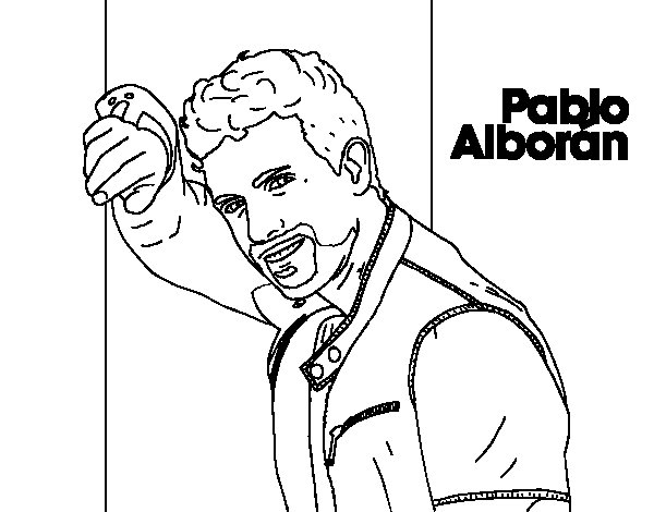 Pablo albor n singer coloring page for Singer coloring pages
