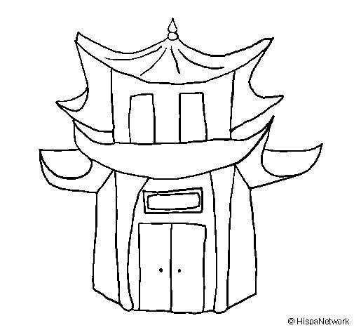 Pagoda coloring page