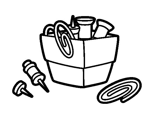 Paper clip holder coloring page Coloring book holder